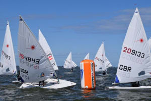 Light winds and tight racing on Day 1 of the Laser Radial Youth Worlds