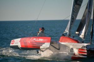 Watch the first sail of the Pulse 600 fun trimaran