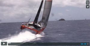 New Gunboat foiling-cruising catamaran turns turtle