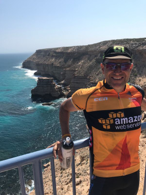 Trafalgar's John Rakic cycles from Perth to Broome