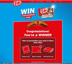 KitKat campaign hot off the digital press