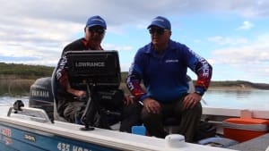 Lowrance HDS Carbon unit in action at Bemm River