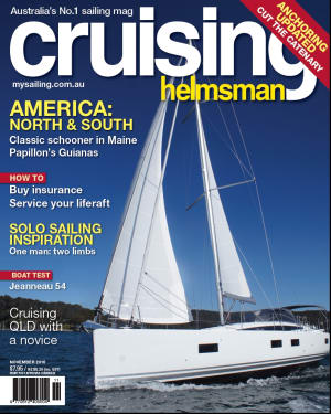 Anchoring is so old school. November's Cruising Helmsman shows you the new way