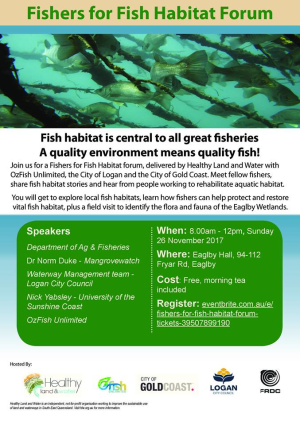 Fishers for Fish Habitat Forum at Eaglby, Qld