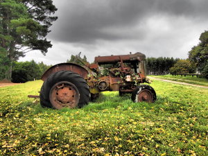 Image Doctor: Old Tractor, Beech Forest, Victoria