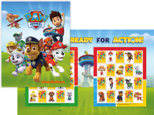 Collectors can put a Paw Patrol stamp on it