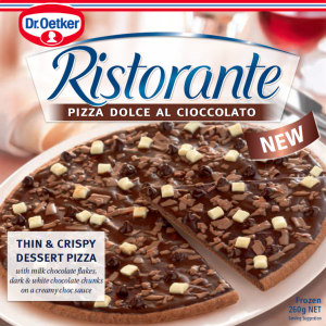 Dessert pizza hits the freezer