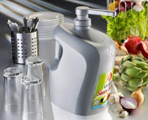 A waste-reducing sauce dispenser