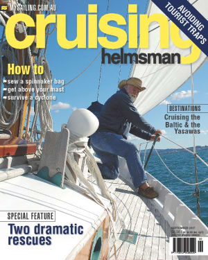 September Cruising Helmsman is a tip of the hat to Larry Pardey