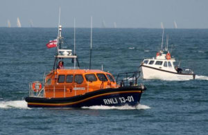 RNLI undertake massive 14-hour mission to rescue three people on stranded yacht