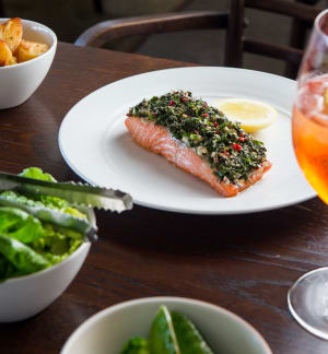 RECIPE: The Fish House's baked ocean trout with herb salad and tahini
