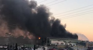 Thomas Foods battles abattoir fire