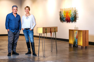 Wood + Textiles: Creative partnership yields 'furniture-art'