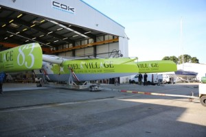 Foiling MULTI 50 trimaran Ciela Village launched by CDK Technologies