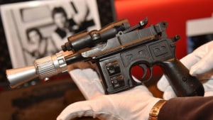 Han Solo 'blaster' fetches record price.
