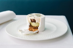 Recipe: Jaclyn Koludrovic's vacherin of Geraldton wax leaf and Granny Smith apple