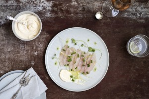 RECIPE: Absolute vodka, cucumber and chilli-cured kingfish with Port Mahon aioli