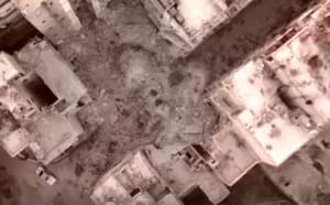 Drone footage shows destruction of Eastern Aleppo