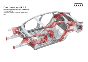 Audi A8 body construction video