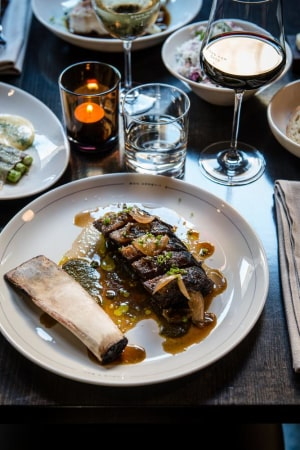 RECIPE: Declan Carroll's beef short rib with chimichurri, beef sauce and beer-pickled onion