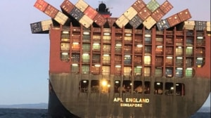 AMSA inspects APL England after loss of containers of NSW coast