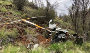R22 Crash prompts Low-flying Warning