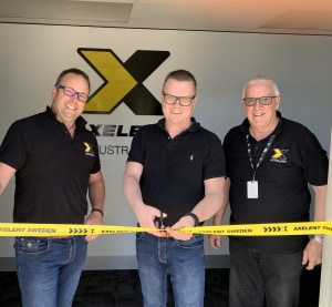 Axelent cuts the ribbon in Adelaide