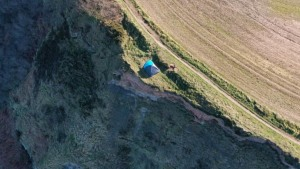 UK campers slammed for camping by deadly cliff