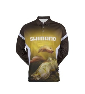 Shimano's new long sleeve polo shirts