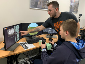 Hunter students experience Bohemia Interactive Simulations