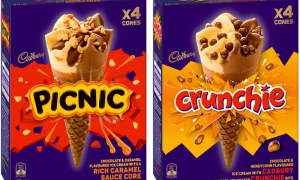 Mondelez and Bulla collaborate on choccy bar-inspired cones