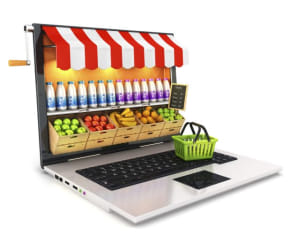 Click and collect services drive online grocery