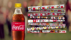 Coca-Cola makes bottle labels that turn into wristbands