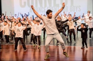 Calling young male dancers