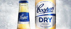 Icy cool design for Coopers' low carb beer packaging