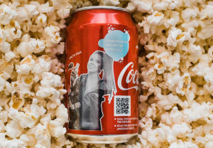 Coca-Cola reveals a message with 'sensitive' inks