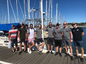 Elite cyclists swap bikes for boats