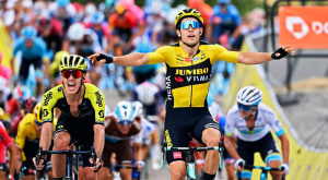 Three In A Row As Wout van Aert Wins Stage 1 Of The Dauphine