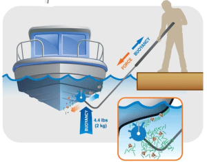 Keeping a hull clean is fast, easy and inexpensive