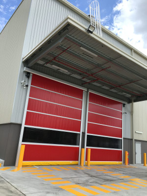 Flexible, high speed doors