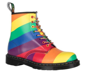 "Dr. Martens: ""our icon proudly takes on the colours of the rainbow flag"""