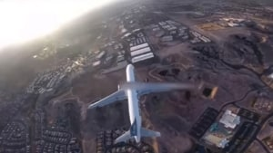 Drone pilot causes outrage with flight above airliner