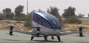 The world's first drone taxi to hit Dubai?