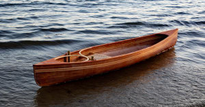 Ethan McDonald's Cedar Strip Canoe: Student Awards 2018