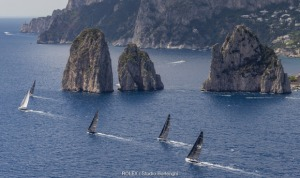 Competitors caught out by forecast at Capri Sailing Week