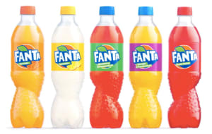 Fanta designs a new bottle with a twist