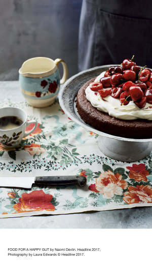 Recipe: Very decadent chocolate-cherry torte