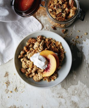 Recipe: Ginger granola with peach