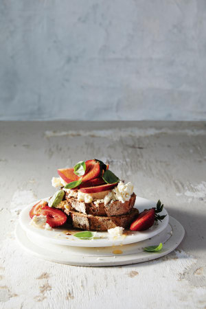 Recipe: Nectarine and strawberry bruschetta