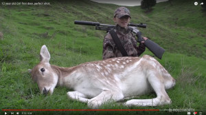 Father coaches daughter to first deer
